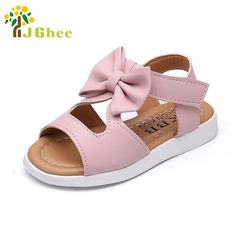 J Ghee 2018 New Summer Girls Sandals Princess Fish Mouth Kids Shoes Fashion  PU With Bowite Cut-outs Children s Sweet Shoes Soft. Yesterday s price  US   9.48 ... 3ed14960bf5c
