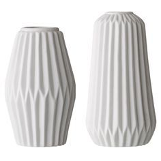 Porcelain+Vase+2er-Pack,+Weiss,+Bloomingville