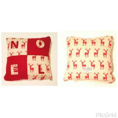 Harris Tweed. Cotton. Reindeer. Cushion. Christmas. Noel. - pinned by pin4etsy.com