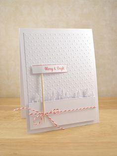 Dots for snow--LOVE the tree border....can be done with a border punch I believe....LOVE it!!! :-)
