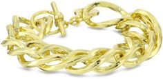 1AR by UnoAerre 18KT Gold Plated Rope Link Chain Bracelet