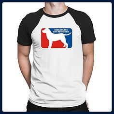 Teeburon Chesapeake Bay Retriever Sports Logo Raglan T-Shirt - Sports shirts (*Amazon Partner-Link)