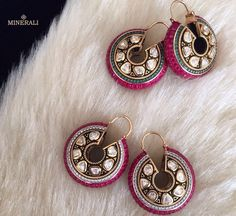 We absolutely love this unique set of earrings, in a gorgeous design with pretty…