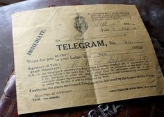 I'm sure some of us remember sending a Telegram....we had to count the letters...the fewer letters the less cost. Needless to say, always a very short message.