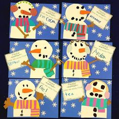 Astrobrights Brings Color To Your New Year Snow Friends! - Differentiated Kindergarten Please keep our snowmen away from. Sneezy the Snowman Fun Pack is coming to my TPT store soon. This bulletin board activity and other… Winter Art Projects, Winter Crafts For Kids, Winter Fun, Winter Ideas, Winter Theme, Preschool Winter, Winter Art Kindergarten, Classroom Crafts, Kindergarten Activities