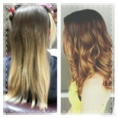 Behind the chair with Ashley. OMBRE before and after love the results of this color. #colorspecialist #btc #btcpics #cut #ombre #color #seasonssalon #lorealpro #Padgram