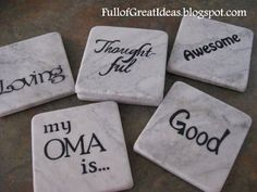 Mother's Day gift idea - Full of Great Ideas: My Oma is...Coasters from Grandkids