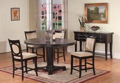 5pc Cappuccino Finish Solid Wood Counter Height Dining Set by FurnitureMaxx. $799.99