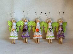 Мои рукоделия и не только... Spring, sun, butterflies flew, circled and waving multicolored swirl wings sped away at Charity Bazaar ...The spring version of my angels on the clothespin,
