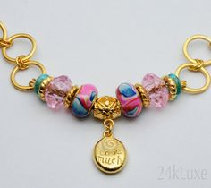 Love Much  Laugh Often 24k Gold plated bracelet by 24kLuxe on Etsy