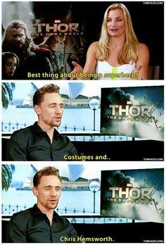 Tom Hiddleston ~ Costumes and Chris Hemsworth