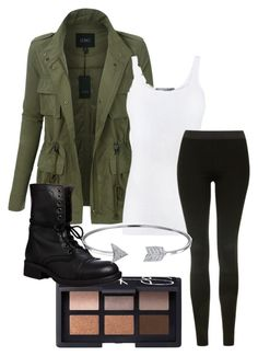 """""""Untitled #26"""" by scoda on Polyvore featuring NARS Cosmetics, LE3NO, Vince, Topshop, Steve Madden and Bling Jewelry"""