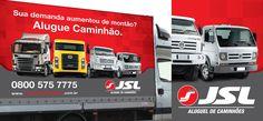 Lona para Caminhão JSL Campanha Alugue Caminhão