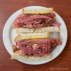 Schwartz's Smoked Meat Sandwich in Montreal by tinyurbankitchen, via Flickr