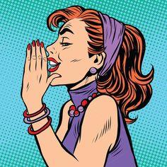 Gossip Girl Pop Art by studiostoks Gossip girl pop art pop art retro vector. The woman whispers in his ear Art Projects For Adults, Easy Art Projects, Pop Art Girl, Up Girl, Pop Art Wallpaper, Wallpaper Awesome, Desenho Pop Art, Art Studio Design, Design Art