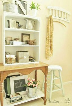 Just add imagination -- this entryway hutch repurposes pieces the DIYer had on hand.