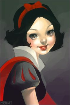 snow white by `loish