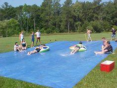 Slip n slide race