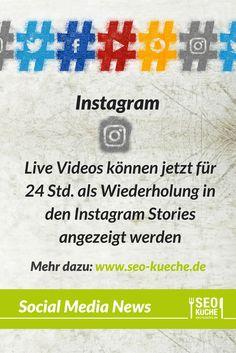 Live Videos in Stories verfügbar - mehr dazu bei uns im Blog