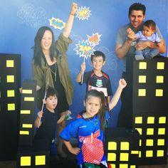 Retro superhero party!