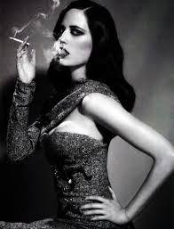 noir stylized female profile femme fatale art - Google Search