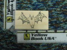 Large Silly Bat rubber stamp - new #HeroArts #WoodMountedRubber