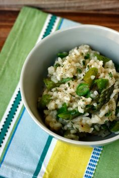 Asparagus Risotto with Thyme by transglobalpanparty #Asparagus #Risotto #Healthy