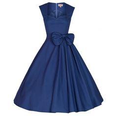 LINDY BOP 'GRACE' CLASSY VINTAGE 1950's ROCKABILLY BOW DRESS ...