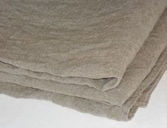 Linen burlap tablecloth taupe gray ecru washed rustic vintage look small table cloth on Etsy, $28.00