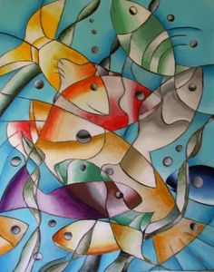 fish abstract paintings - Google Search