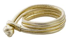 Joy de la Luz   Leather bracelet gold