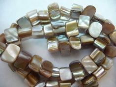 BeadsMotherofPearl Shell Natural Dyed Cream and by darlamarie23, $1.49