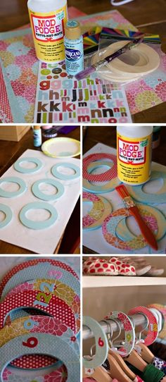 Great idea for doll clothing dividers for display...  closet dividers tutorial