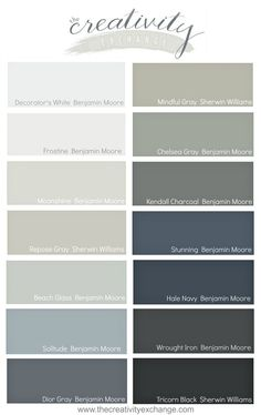 Some of the most versatile and popular paint colors from Benjamin Moore and Sherwin Williams that consistently look amazing.