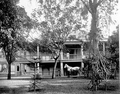 This photo from the State Archives is identified as Rooke House, home of Queen Emma at Nu'uanu and Beretania, circa 1833.