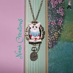 Cameo Bianconiglio Alice in the Wonderland di NanaCreationsShop su Etsy