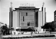 """Cinema """"Imperio"""" (1952) in Lisbon, Portugal, by Cassiano Branco"""