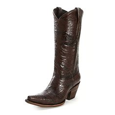 Lucchese Brown Alpine Cafe Cowgirl Boots