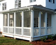 Low roof! screened porches