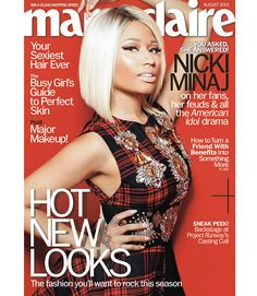 Ms. Nicki Minaj graces the cover of Marie Claire