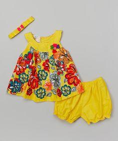 Look at this #zulilyfind! Yellow Floral Top Set - Infant #zulilyfinds