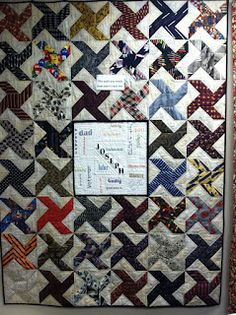 Memory Quilt made with men's ties!