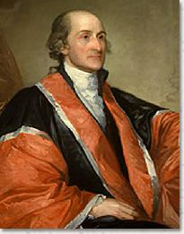 John Jay is most well remembered for co-writing the Federalist Papers and serving as the President of the Continental Congress (1778-1779) and first Chief Justice of the United States (1789-1795). (photo: Reproduction courtesy of the Supreme Court Historical Society)