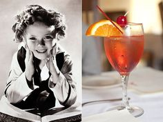 A Toast To Shirley Temple with Her SignatureDrink. Here's to you Shirley!