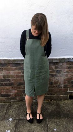Emma's Cleo dungaree dress - sewing pattern by Tilly and the Buttons Dress Sewing, Sewing Clothes, Diy Clothes, Clothes For Women, Overalls Fashion, Tilly And The Buttons, Dungaree Dress, Modern Sewing Patterns, Winter Wear