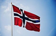 Norwegian flag. Gratulerer med dagen!