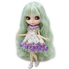"Takara 12/""Neo Blythe RBL Soft  Scalp No Hair Root Factory Nude Doll Custom Part"