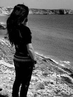 Miss my bullet belt Dark Fashion, Grunge Fashion, Gothic Fashion, Metal Fashion, Gothic Culture, Rocker Girl, Gothic Metal, Metal Girl, Rock Chic