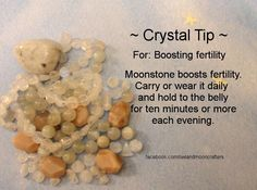 ✯ Crystal Tip: For Boosting Fertility ✯ https://www.etsy.com/ca/shop/MagickalGoodies
