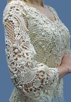 Basket of irish flowers crochet dress